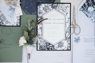 rustic romance black foil stamping