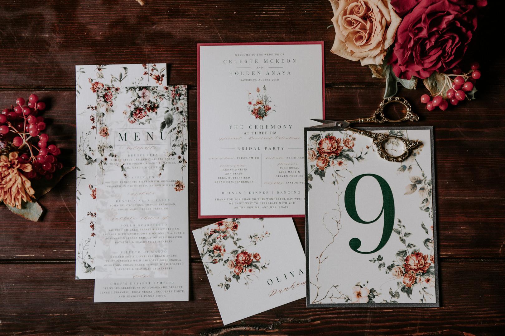 wedding day stationery