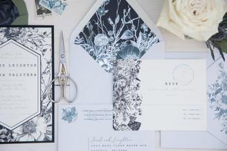 rustic romance metallic envelope