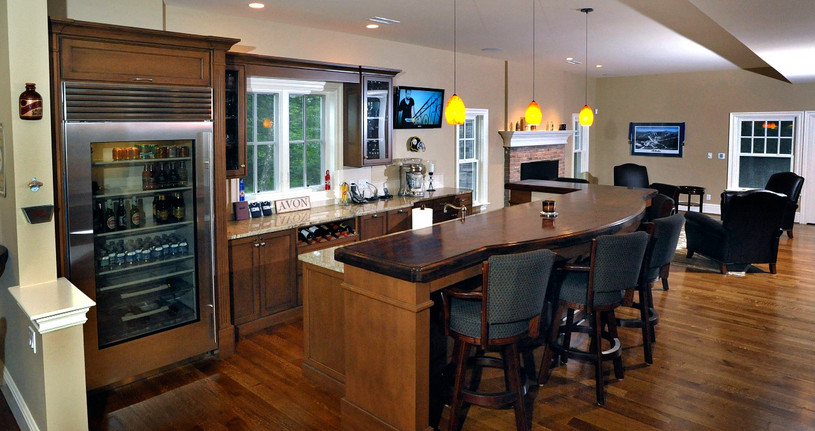 With a rec room like this, who needs a kitchen?
