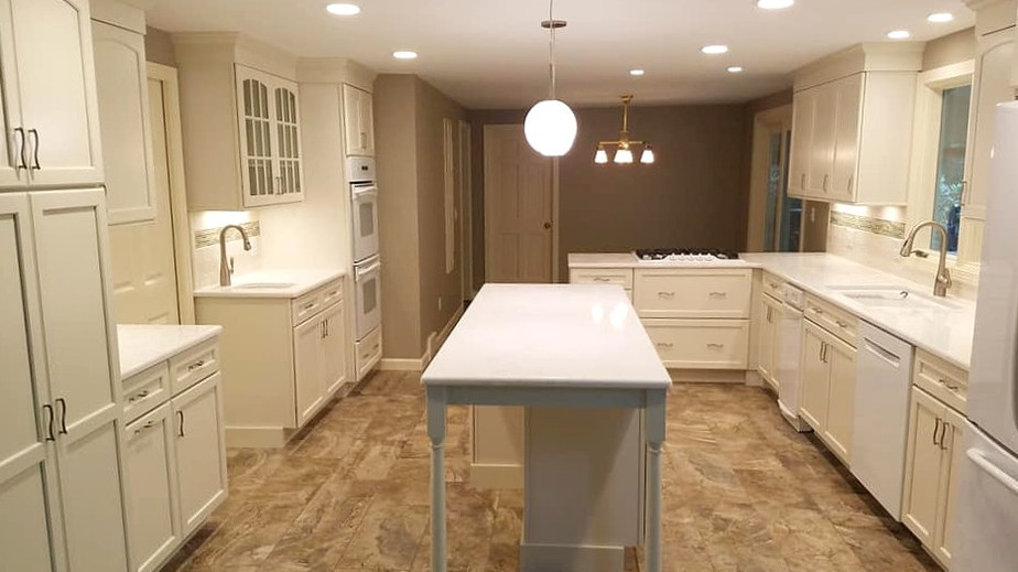 KraftMaid kitchen cream color is the perfect background for your personal touches.