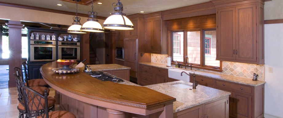 Elegant and Inviting With Custom Made QCCI cabinets.