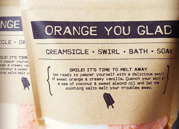 ORANGE YOUR GLAD | Creamsicle Swirl Bath Soak