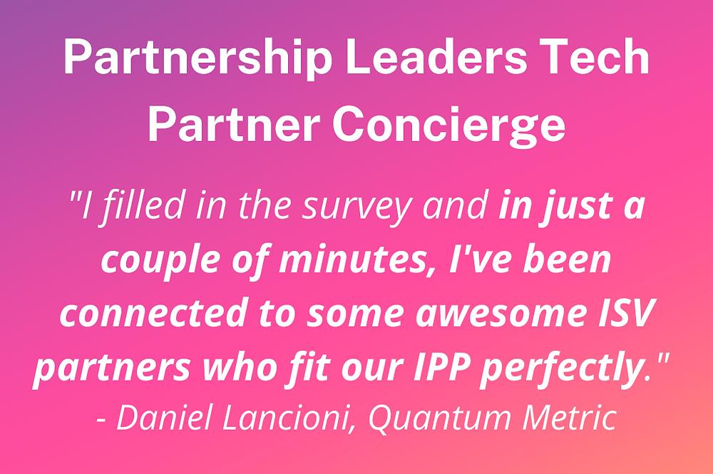 Partnership Leaders tech partner concierge