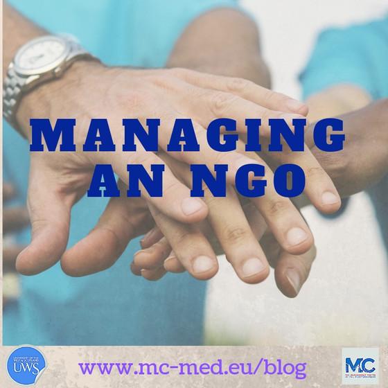 Managing a Non-Governmental Organisation (NGO)
