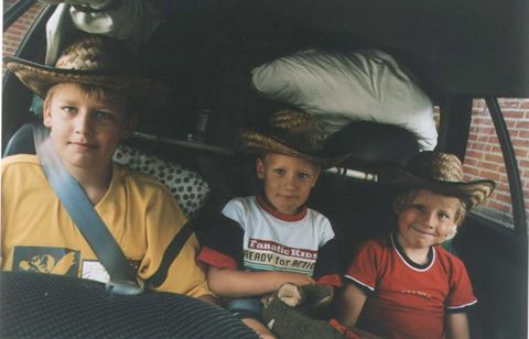 Baby me and my brothers