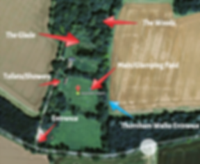 Site map of Swattesfield Campsite in Suffolk