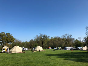 Swattesfield campsite Bell tents