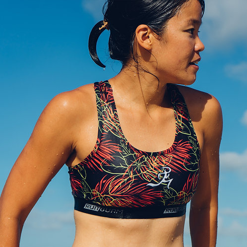 RNG Sports Bra- Black/Red Gaosali