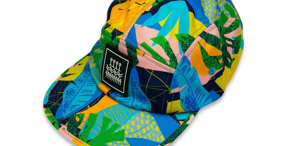 RNG 5 panel Hat - Bright Tropics
