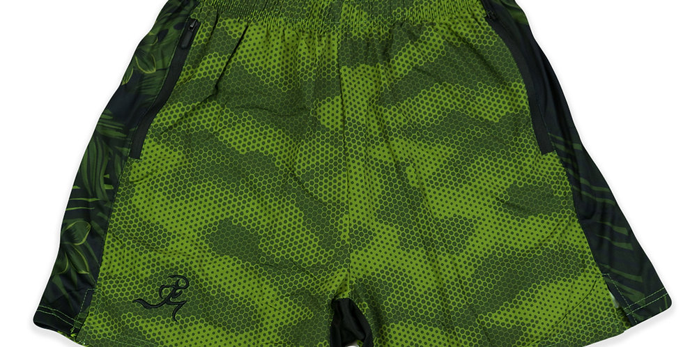 "RNG 2-in-1 shorts- (5"") Olive Green w/ Pockets"