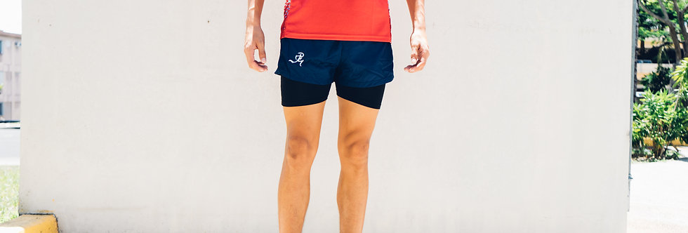 """RNG 2-in-1 shorts (3"""") - Deep Blue"""