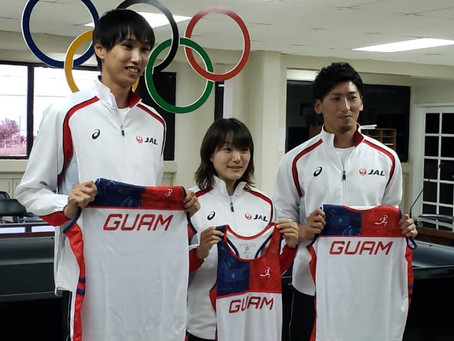 Japan National Team Athletes Visit Guam