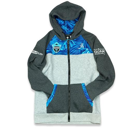 UGM Full Zip Hoodie- Blue/ Gray