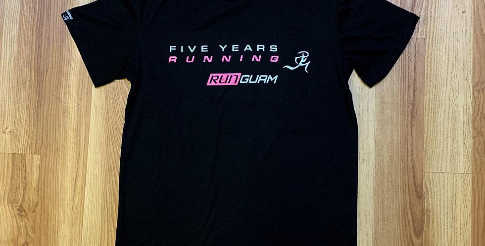 PR Shirt- 5 Years Running - Pink UNISEX