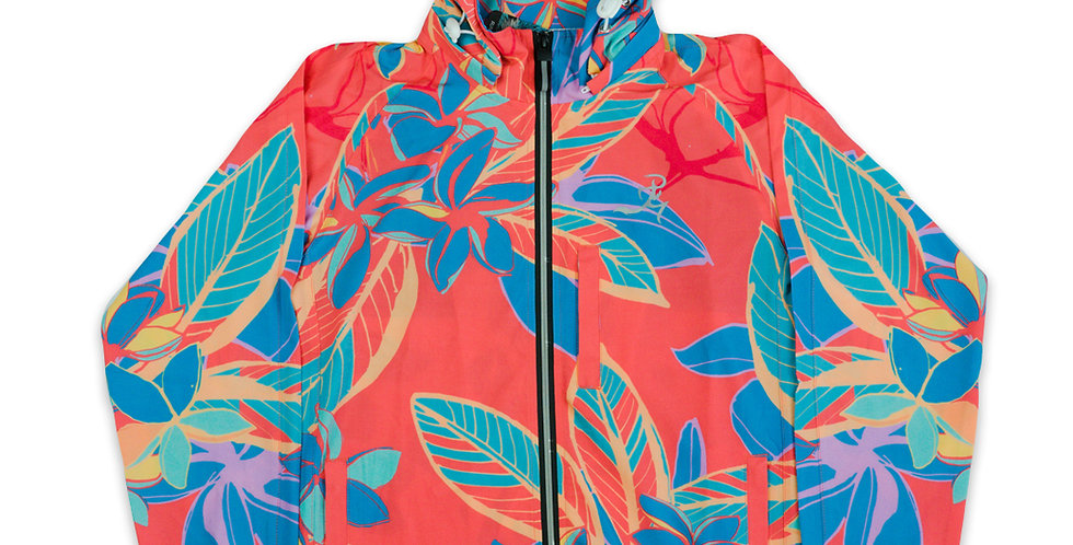 RNG Lightweight Athletic Jacket- Coral Floral- Women's