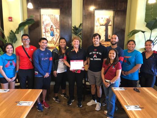 Josephine Pinto Receives IAAF Veteran Pin