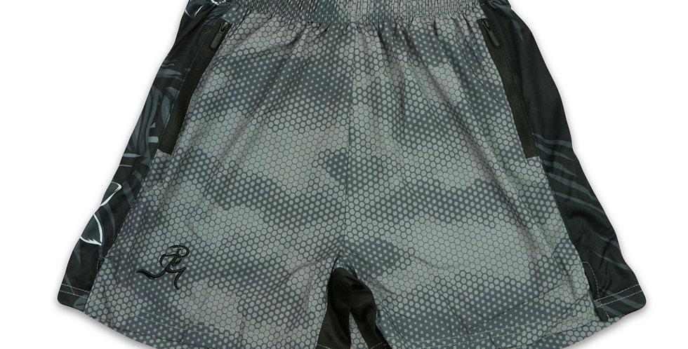"RNG 2-in-1 shorts- (5"") Gray w/ Pockets"