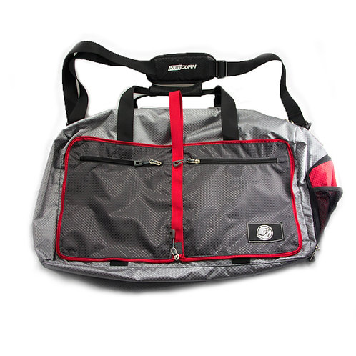 RNG 'DUFELTRON' Duffel Bag- Red and Gray