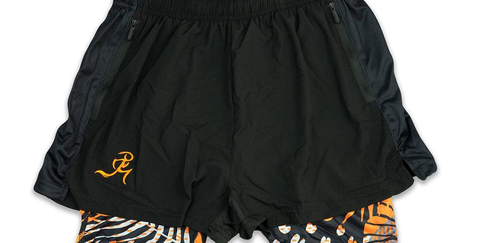 "RNG 2-in-1 shorts- (2.5"") Black/Spondylus w/ Pockets"