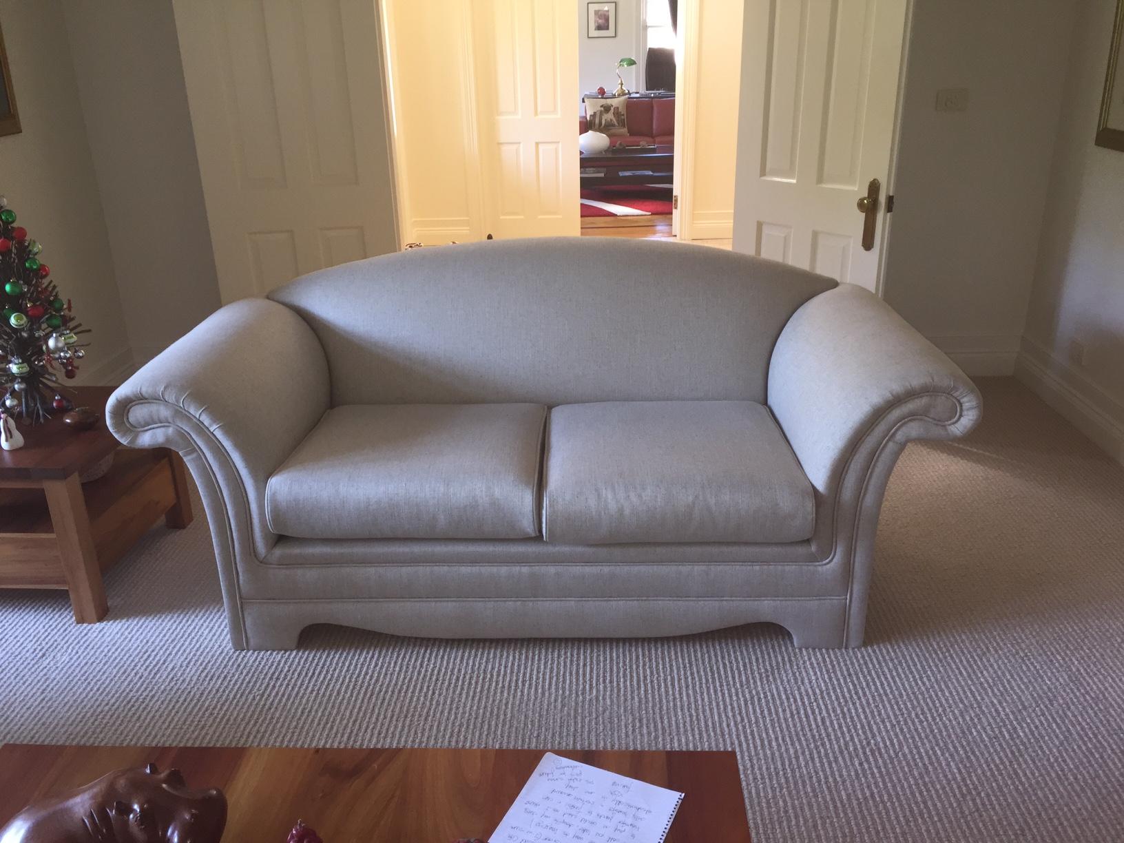 sofa reupholstered 3-4 weeks