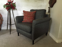 armchair reupholstered and cushion