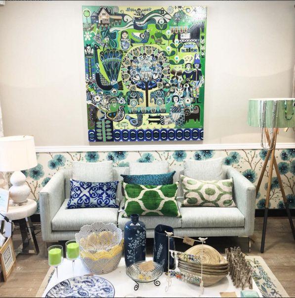 wallpaper and shop interior