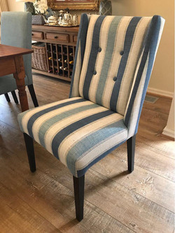 Dining room chair reupholstered
