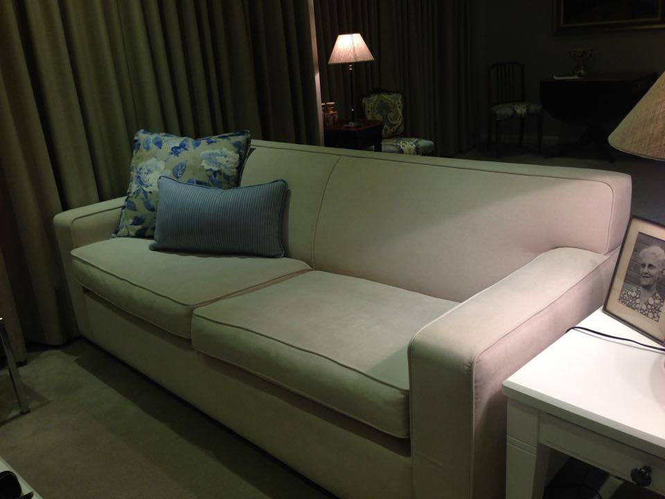 Custom cushions for a sofa