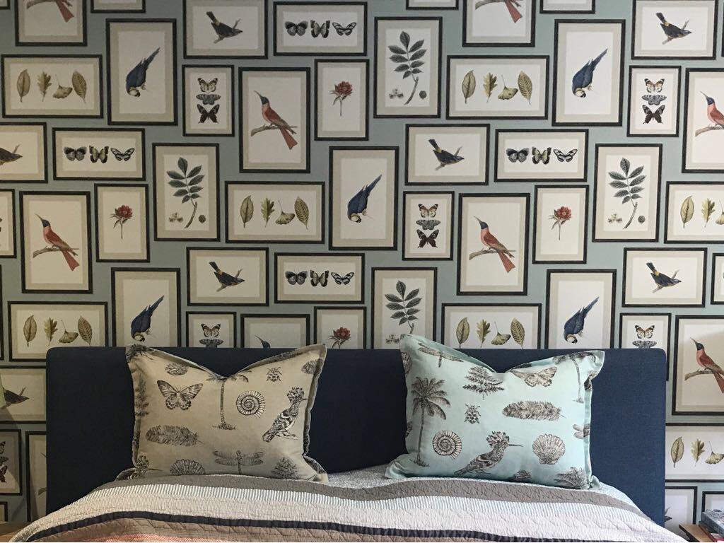 wallpaper and cushion interior