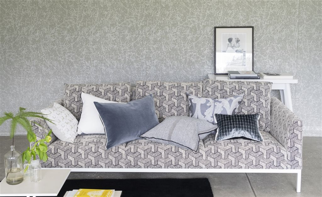 feature wall and sofa