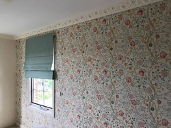 wallpaper and matching roman blind
