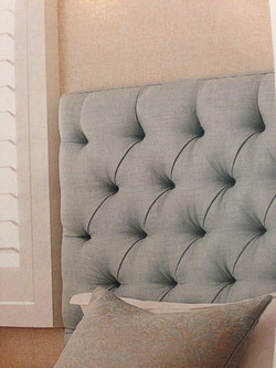 bedhead custom made and upholstered