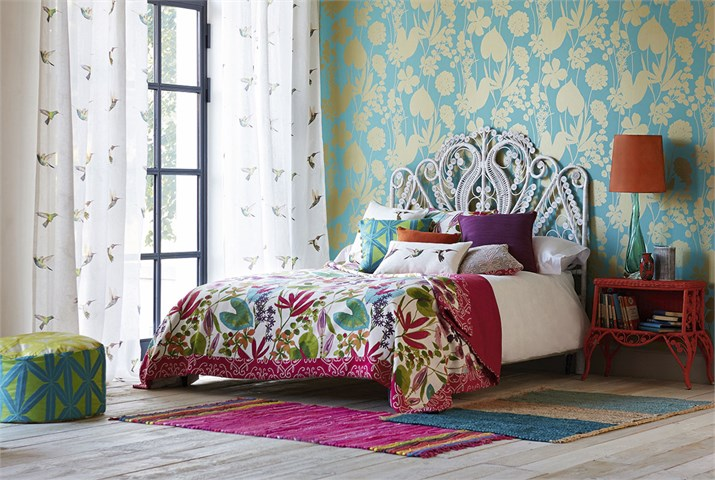 harlequin wallpaper and scatters