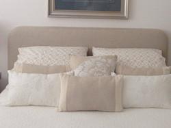 neutral beige bedhead custom made