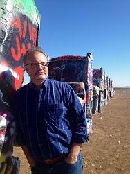 Eric at cadillac ranch.JPG