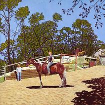 """Miki's Horse 1"" 48x48 acrylic 2014"