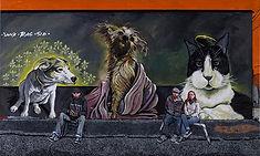 """Trenton Graffitti Artists pet's"" 48x36 acrylic 2014"
