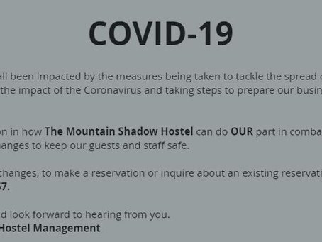 YES, The Mountain Shadow Hostel is still open!