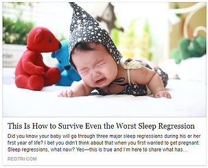 Pediatric Sleep Expert Desiree Baird | Seattle | This is How to Survive Eve the Worst Sleep Regression - RedTri.com
