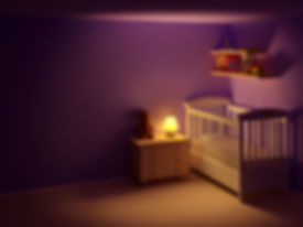 nursery, dark room, healthy room environment for baby, baby nursery