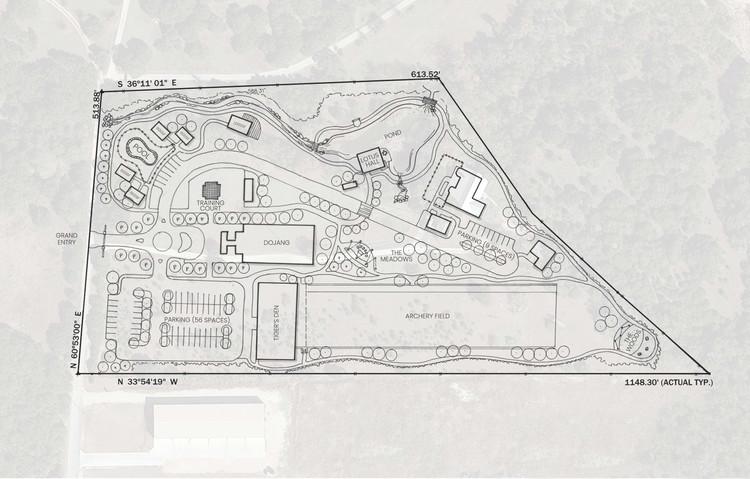 Hand-drawn conceptual masterplan for the Tiger Mountain Center