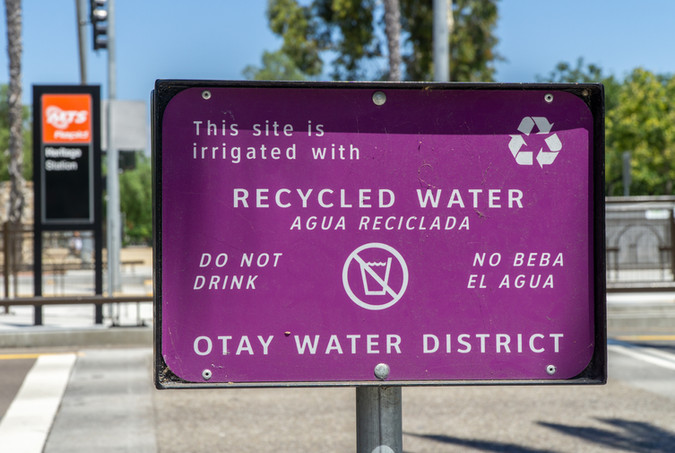 Recycled Water Irrigation Sign