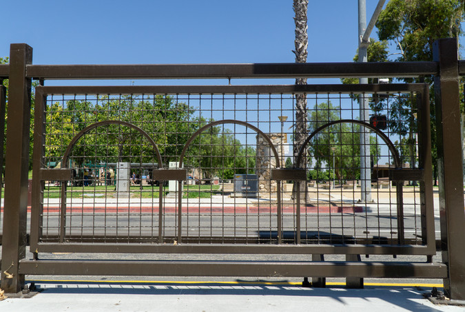 South Bay BRT Station Fencing