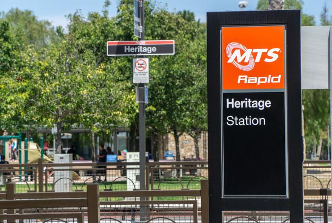 Heritage Station MTS Signage