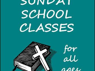 Sunday School Begins Again This Sunday