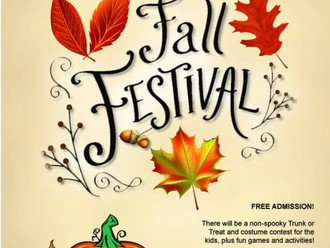 Fall Festival This Saturday 5:30 PM to 8:30 PM