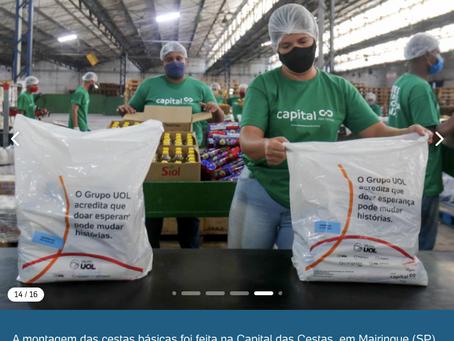 Capital das Cestas é a fornecedora de Cestas Básicas na ação de doação de cestas do Grupo UOL