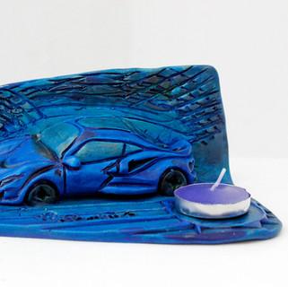 Ferrari bleue