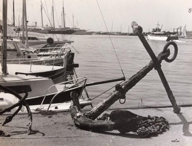Cannes années 70, ancre sur le vieux port